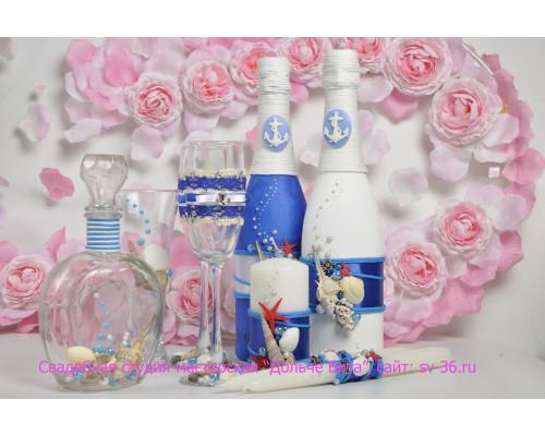 Набор свадебных аксессуаров (8 предметов) N-24