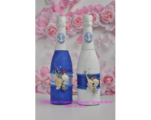 Бутылки шампанского с декором Ш-8