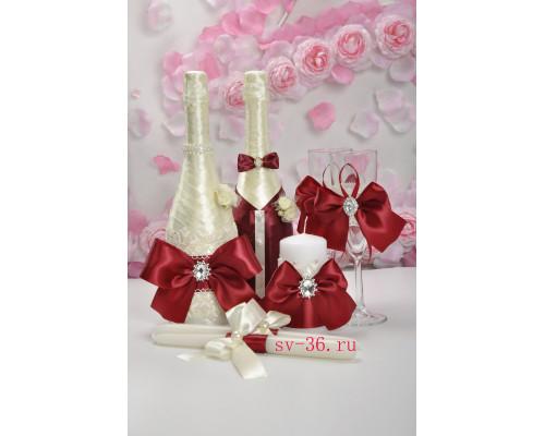 Набор свадебных аксессуаров (7 предметов) N - 23