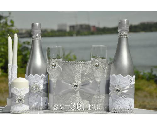 Набор свадебных аксессуаров (8 предмета) N-3