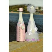 Свадебный декор шампанского