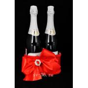 Декоративная корзинка для шампанского на свадьбу