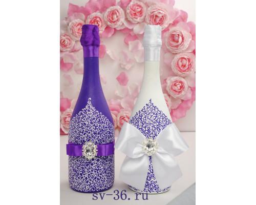 Бутылки шампанского с декором Ш-16