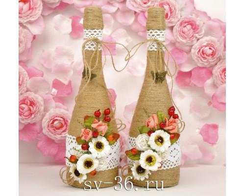 Бутылки шампанского с декором Ш-9