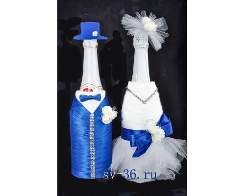 Украшение для свадебного шампанского У-12