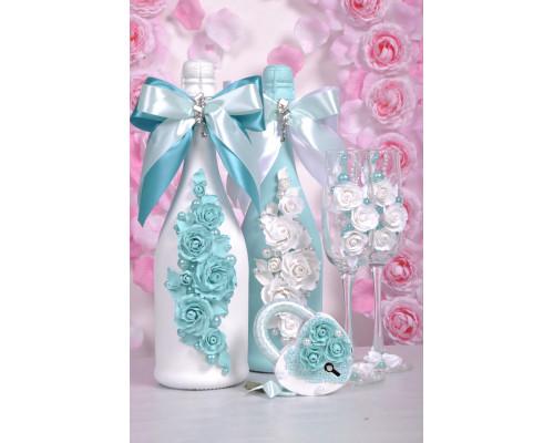Набор свадебных аксессуаров (5 предметов) N-17