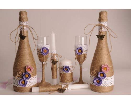 Набор свадебных аксессуаров (7 предметов) N-12