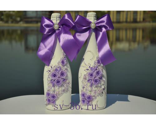 Бутылки шампанского с декором Ш-6