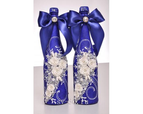 Бутылки шампанского с декором Ш-13