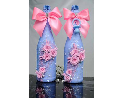 Бутылки шампанского с декором Ш-11
