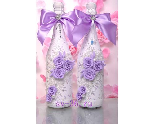 Бутылки шампанского с декором Ш-5