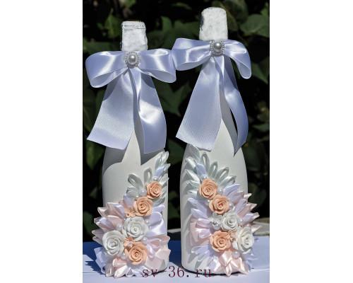 Бутылки шампанского с декором Ш-4