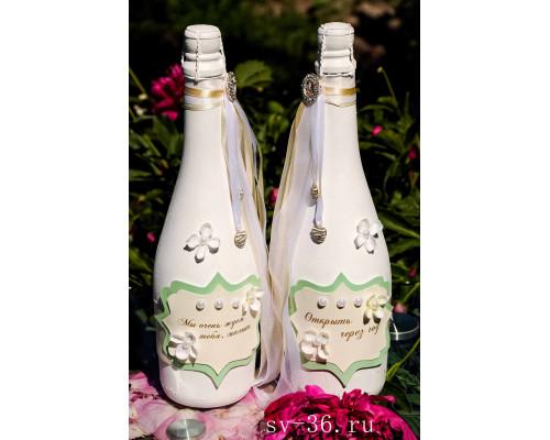 Бутылки шампанского с декором Ш-1