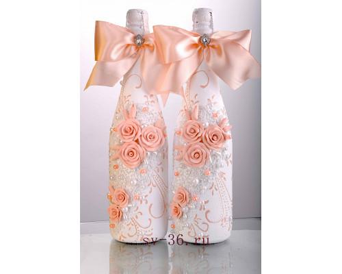 Бутылки шампанского с декором Ш-10