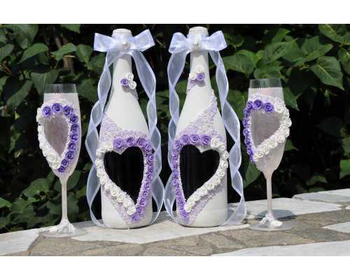 Набор свадебных аксессуаров (4 предмета) №8