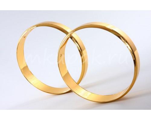 Набор из двух золотых колец для декора автомобиля на свадьбу
